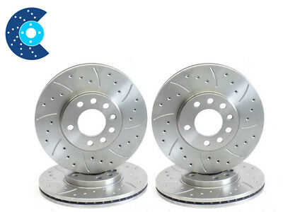 £129.99 • Buy Ford Cougar 2.5 Drilled Grooved Brake Discs Front Rear