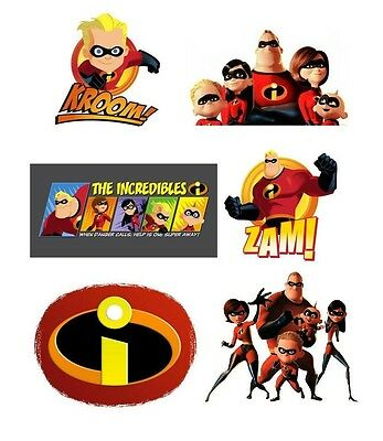 The Incredibles #5 6 Pack T Shirt Iron On Transfer 8x10 • 2.87£
