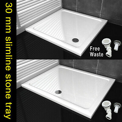 £78.84 • Buy Stone Tray Shower Enclosure Walk In Bathroom Square Rectangle H:30mm Free Waste