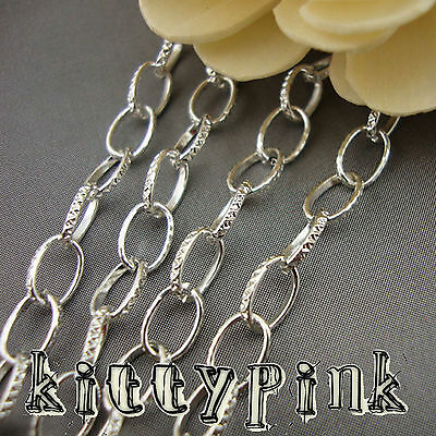 2 Metre Silver Plated 8x5mm Belcher Rolo Necklace Chain • 1.50£