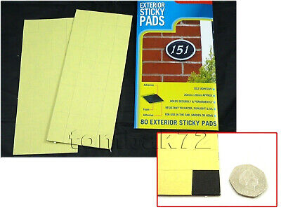 £3.99 • Buy Double Sided Sticky Self Adhesive Foam PADS Exterior Mounting Fixing House Car