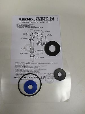 Dudley Turbo 88 2 Part Toilet Syphon WASHER PACK  Fits All 88 Syphons • 6.80£