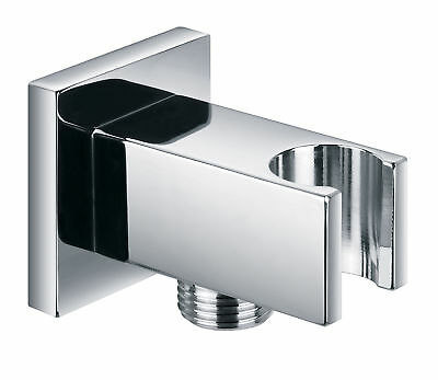 Pura KI121A Chrome Square Shower Connector Hose Wall Outlet Bracket ACC6042 • 16.95£