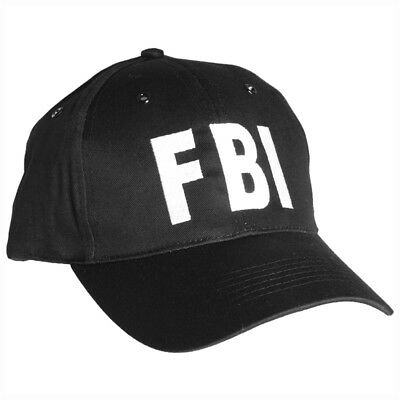 £9.95 • Buy Fbi Black Baseball Cap Tactical Hat Special Agent Police Security Army Usa