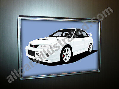 AU8.47 • Buy Mitsubishi Evo Vi Fridge Magnet (large). Choose Your Car Colour.