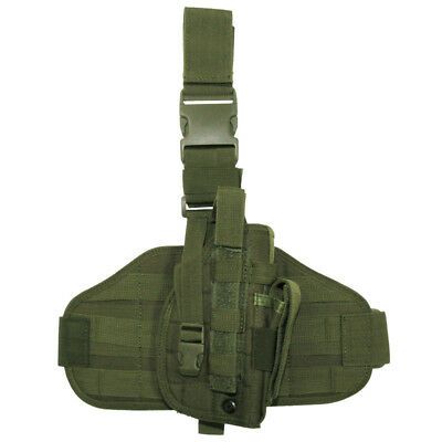 Army Tactical Molle Holster Modular System Leg Panel Range Shooting Olive Od • 17.95£