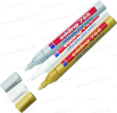 Edding 755 Calligraphy Paint Marker - Low Odour 4 Colours Available • 4.79£