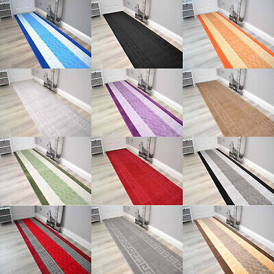 Short Long Washable Runners Non Slip Cheap Floor Hall Kitchen Runner Rugs Mats • 17.99£