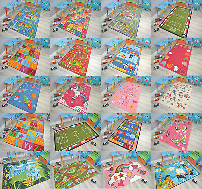 Childrens Large Girls Boys Bedroom Playroom Floor Mat Carpets Kids Play Fun Rugs • 12.99£