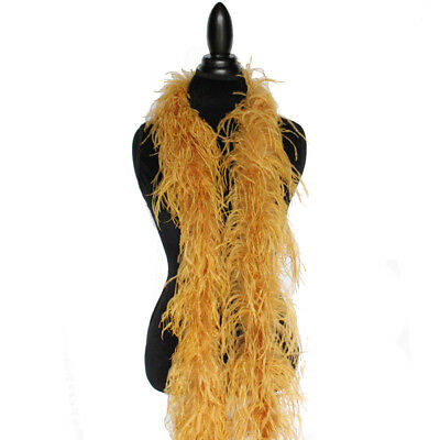 £37.86 • Buy Ginger 2ply Ostrich Feather Boa Scarf Prom Halloween Costumes Dance Decor