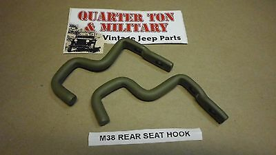 $16 • Buy Rear Seat Hooks Pair M38 Correct US Made Fit Willys M38 Jeep G740