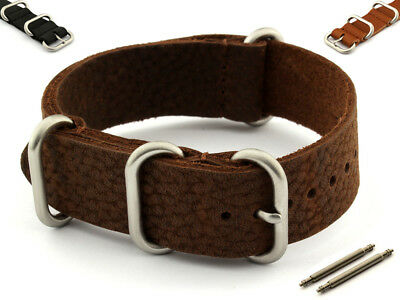 £21.90 • Buy Genuine Leather NATO Watch Strap Band VINTAGE Style 18 20 22 24 SS. Buckle MM