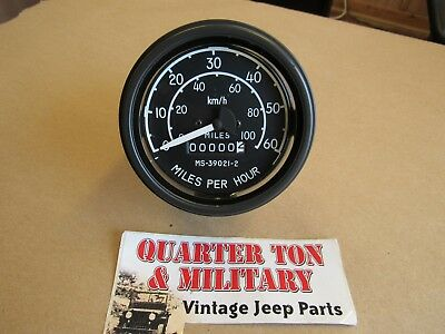 $58 • Buy Speedometer Military Over Seas Style Fits Willys Jeep M38 M38A1 M170 M151