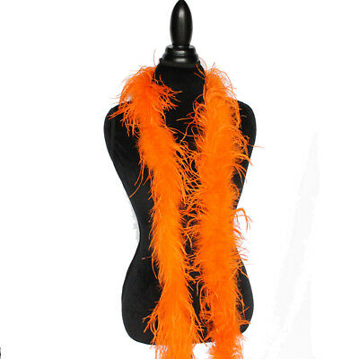£28.39 • Buy Orange 1ply Ostrich Feather Boa Scarf Prom Halloween Costumes Dance Decor