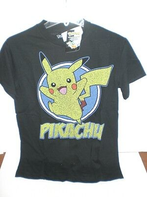 $11.01 • Buy Pokemon Black Pikachu Adult T-shirt Officially  Licensed *see Variations For Sz*