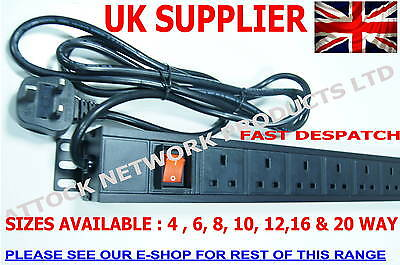 19  10 WAY UK PDU 1.5U RACK MOUNT SURGE PROTECTED See Our Shop For More • 25.75£