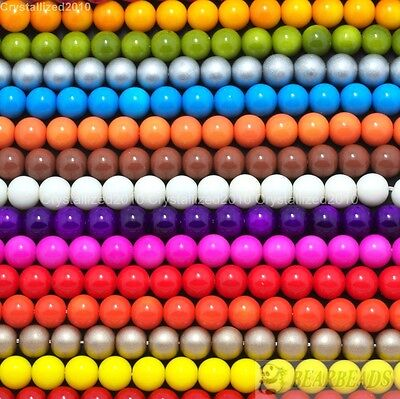 $ CDN1.32 • Buy Top Czech Opaque Coated Glass Pearl Round Beads 4mm 6mm 8mm 10mm 12mm 14mm 16''