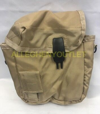 $ CDN14.08 • Buy Military Style 2 QUART COLLAPSIBLE CANTEEN CARRIER COVER POUCH TAN KHAKI VGC