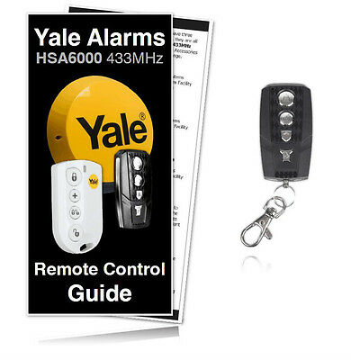 Yale Alarm HSA6060 Premium Compatible Remote For HSA6000 Yale Alarms /RRP £24.99 • 22.99£