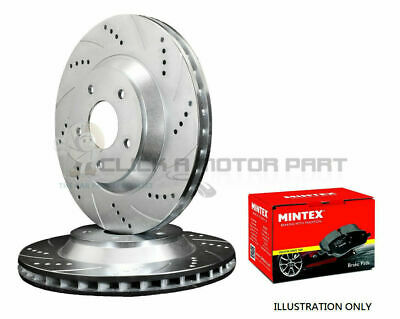 Ford Fiesta Mk6 1.25 1.4 1.6 Zetec Front 2 Drilled Grooved Brake Discs And Pads • 99.59£