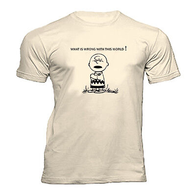 £10.99 • Buy Charlie Brown What Is Wrong With This World Snoopy Peanuts  T Shirt