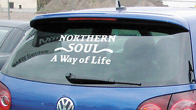 Northern Soul A Way Of Life Car Stickers Decals Window Scooter Motown Vinyl • 1.99£