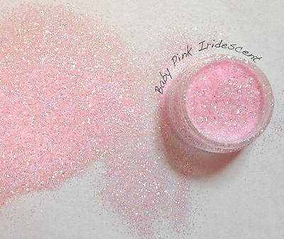 Rockstar Toes / Nail Glitter 40g  Extra Fine .008  / .015 / Baby Pink Iridescent • 1.99£