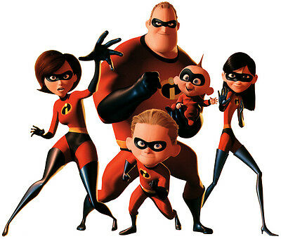 The Incredibles Family T Shirt Iron On Transfer 8x10 Or 5x7 Light Fabric • 2.69£