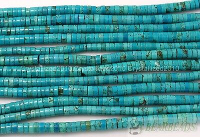 $ CDN6.56 • Buy Natural Turquoise Gemstone Heishi Beads Spacer 3mm 4mm 6mm 8mm 10mm 12mm 16