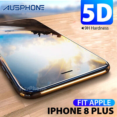 AU7.95 • Buy For Apple IPhone 8 Plus 5D Full Coverage Crystal Tempered Glass Screen Protector