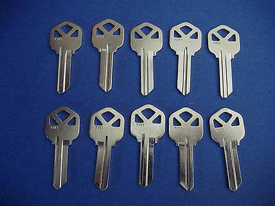 $ CDN7.25 • Buy Lot Of Ten Locksmith Kw1 Key Blanks Fits Kwikset Nickel Chrome Plated Brs