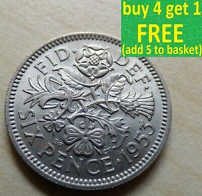 £0.99 • Buy Elizabeth II Sixpence Choice Of Dates 1953 - 1970 Pick Your Own Choose