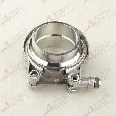 $ CDN20.30 • Buy 2'' V-Band Flange & Clamp Kit For Turbo Exhaust Downpipes Mild Steel Flange