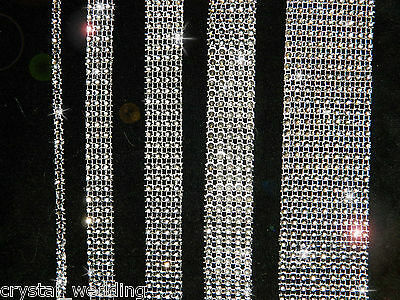 Diamante Ribbon Crystal Banding Mesh Cake Decoration 1 Meter  30+ Colours  • 2.55£