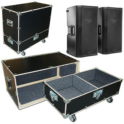 $280.49 • Buy Road Case Kit W/Bare Wood Edges Fits 2 Mackie SRM-450ADC Spkrs - 2 Compartments