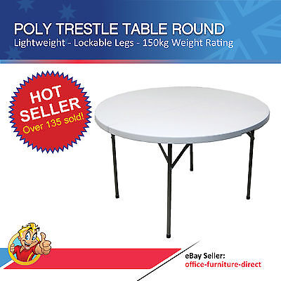 AU397 • Buy Trestle Table Round Banquet Wedding Folding Leg Tables Outdoor Function Event
