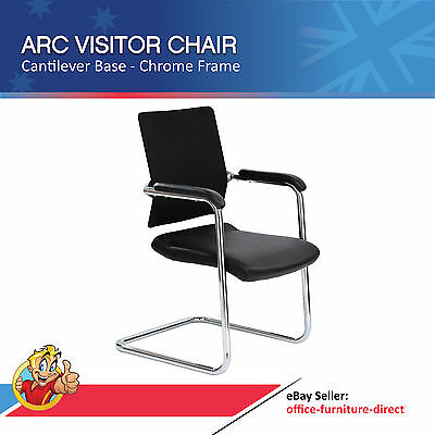 AU299 • Buy Arc Visitor Chair - Cantilever Base, Chrome Frame With Arms, Waiting Room Chairs