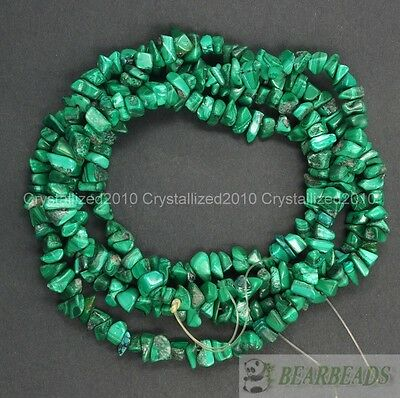 $ CDN4.24 • Buy Natural Malachite Gemstones 5-8mm Chip Beads Spacer Loose 35  Bracelet Necklace