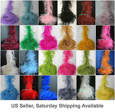 £37.86 • Buy 2 Ply, 72 Long A+ Quality Ostrich Feather Boa, 30+  Colors To Pick From, NEW!