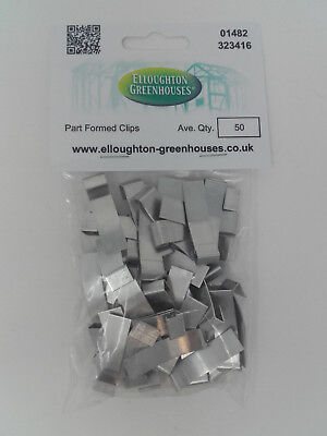Two Packs X 50 Part Formed Greenhouse Overlap Glazing Clips Original Elite Parts • 10.95£