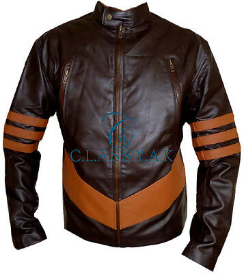 Classyak XMen Wolverine Real Leather Jacket, High Quality Movie Coat, Xs-5xl • 125.17£