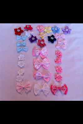 Bows And Rosebuds Assorted Designs And Colours  4 From £1.40 Free Pp  • 2.40£