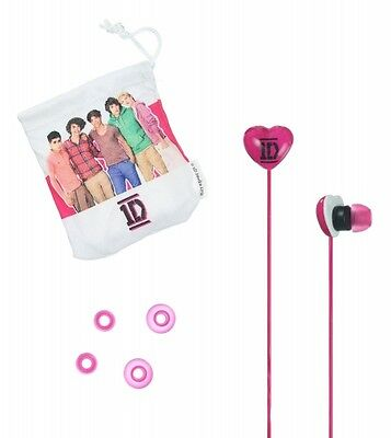 One Direction 1D Pink Earbuds For Universal Smartphone, MP3, Tablet, Laptop Gift • 7.43£
