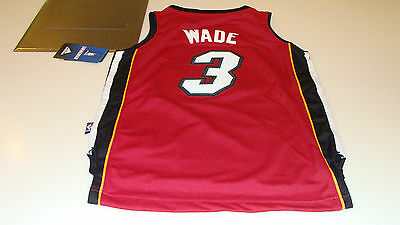 $ CDN89.99 • Buy NBA Miami Heat Dwayne Wade Red Youth S Adidas Basketball Jersey Swingman NWT
