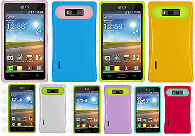 $8.95 • Buy For LG Venice LG730 TPU Candy HYBRID GLOW Case Phone Cover Accessory