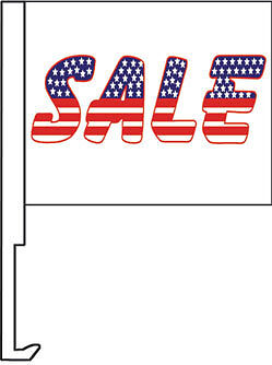 Sale Red-white-blue Clip On Car Flag. Qty 6.  • 21.35£