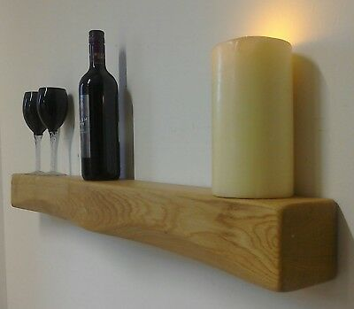 £62 • Buy Chunky Rustic Solid Oak Floating Beam Mantle Mantel Piece Shelf Fire Surround