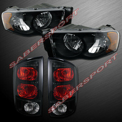 $146 • Buy Combo Set Black Headlights + Taillights For 02-05 Ram 1500 And 03-05 2500/3500