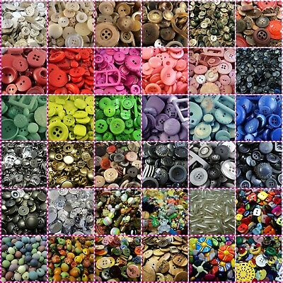 CLEARANCE! LARGE SELECTION OF ITALIAN MIXED/BABY/SQUARE BUTTONS/BEADS! Sewing • 1.99£