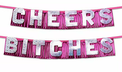 AU9.75 • Buy Bachelorette Hens Adult Night Party Cheers Bitches Novelty Decoration Banner